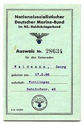 Nationalsozialistischer Deutscher Marine-Bund - Ausweis