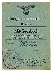 III.Reich Kriegskameradschaft -MitgliedsbuchBuß - Saar