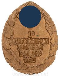 """NSDAP Auslandsgruppe Italien: Teilnehmermedaille """"I. Landesgruppen Sportfest Mailand 1940"""""""