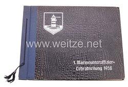 Kriegsmarine Album zur Erinnerung an den 1. Marineunteroffizier-Lehrabteilung 1938