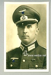 Heer - Portraitpostkarte von Ritterkreuzträger Rittmeister Hans-Hermann Sachenbacher