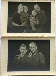 Wehrmacht und Marineartillerie - 10 Fotos von 2 Brüdern und Familie
