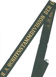 """Reichsmarine Mützenband """"II.A.Schiffsstammdivision der Ostsee II.A."""""""