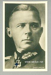 Heer - Portraitpostkarte von Ritterkreuzträger General Karl Strecker