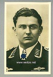 Luftwaffe - Portraitpostkarte von Ritterkreuzträger Oberfeldwebel Leopold Steinbatz