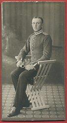 Preußen Großes Kabinett-Foto eines Einjährig-Freiwilligen Gefterien 1. Garde-Dragoner-Rgiment Soldaten im Garde-Schützen-Bataillon