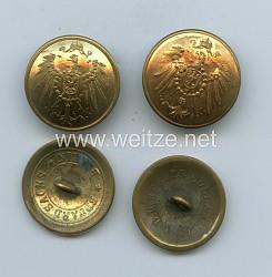 Reichskolonialamt vergoldete Beamtenknöpfe