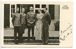 Ina-Marie, Prinzessin von Preussen original signierte Foto-Postkarte