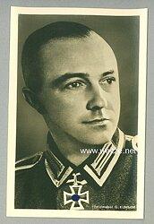 Heer - Portraitpostkarte von Ritterkreuzträger Feldwebel Gotthard Kummer