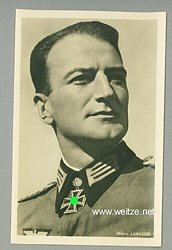 Heer - Portraitpostkarte von Ritterkreuzträger Major Karl Langesee
