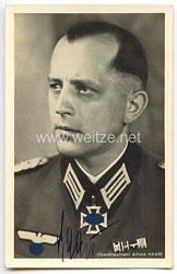Heer - Originalunterschrift von Ritterkreuzträger Oberstleutnant Alfred Haase