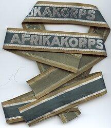 """Museumsanfertigung - Wehrmacht Ärmelband """" Afrikakorps """""""
