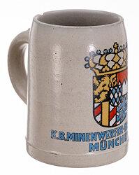 "Königreich Bayern - Reservistenkrug "" K.B. Minenwerfer-Ersatz.Batl.No. 1"""