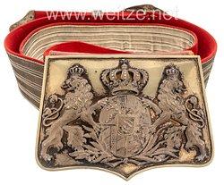 Bayern Kartuschkasten und Paradebandolier für Offiziere der Kavallerie