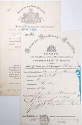 Hamburg 1858-1861 - Dokumentenpaar eines Mannes