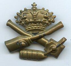 Königreich Italien Schulterstück Auflage für Mannschaften Artillerie, bis 1909.