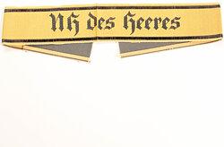 """Wehrmacht Heer Ärmelband für Nachrichtenhelferinnen """"NH des Heeres"""""""