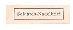 """Wehrmacht - """" Soldaten-Nadelbrief """""""