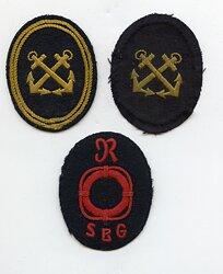 III. Reich Handelsmarine Ärmelabzeichen der See-Berufs-Genossenschaft für einen Rettungsboot-Steuermann