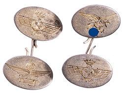 Paar Manschettenknöpfe für Angehörige der Legion Condor Luftwaffe