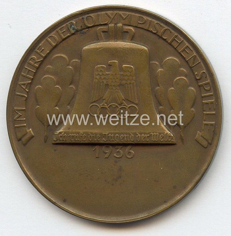 XI. Olympischen Spiele 1936 Berlin - bronzene Siegermedaille eines Sportclubs