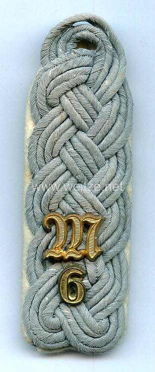 Wehrmacht Heer Einzel Schulterstück für einen Major der Maschinengewehr-Abteilung 6