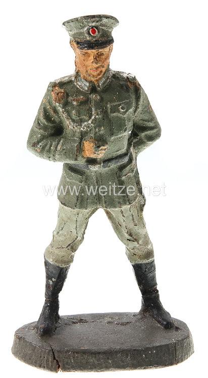 Elastolin - Heer Feldwebel die Ausbildung beobachtend