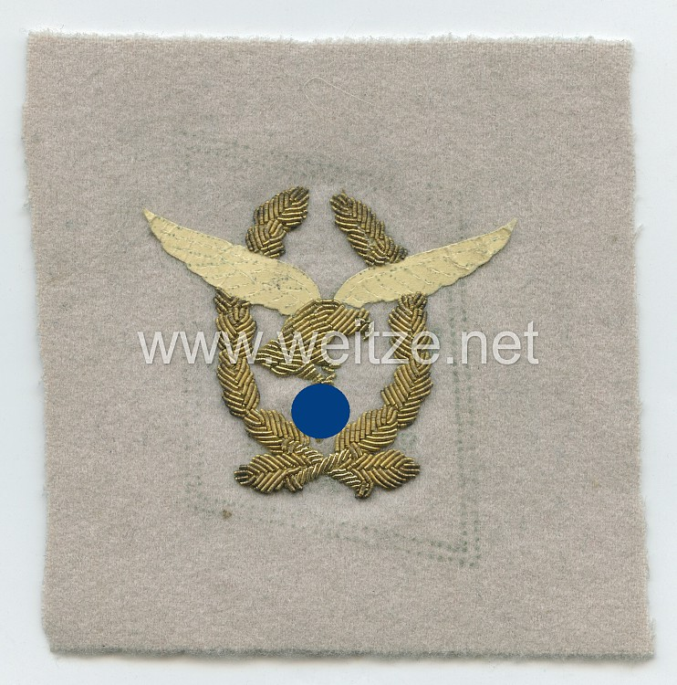 Luftwaffe Einzel Kragenspiegel Rohling für Generalfeldmarschall Hermann Göring