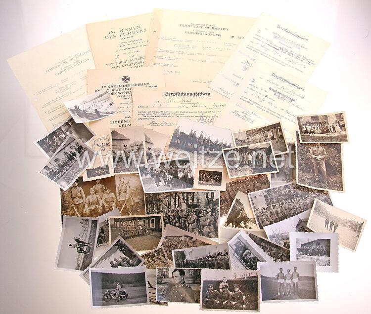 Heer - Dokumenten- und Fotogruppe für einen späteren Oberwachtmeister der 3./Terekkosaken-Reiter-Regiment 6