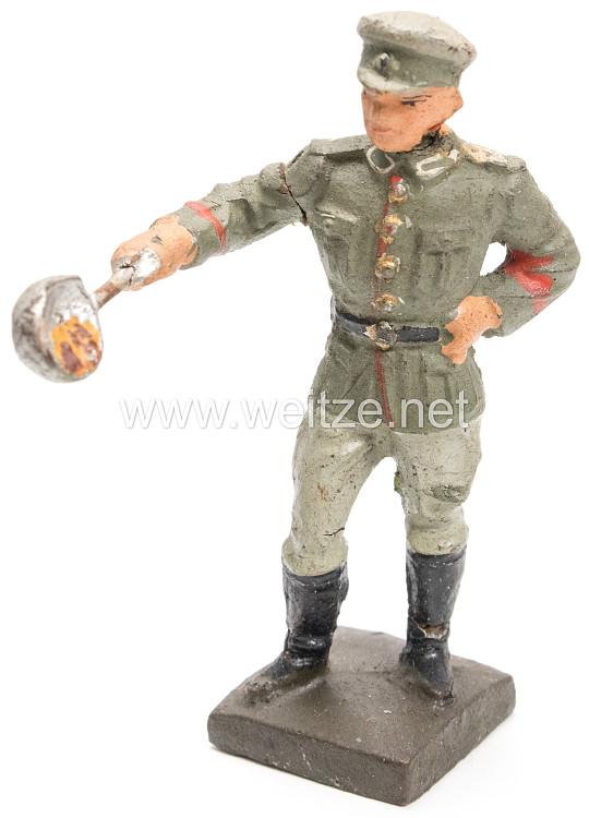 Lineol - Heer Soldat bei der Essensausgabe