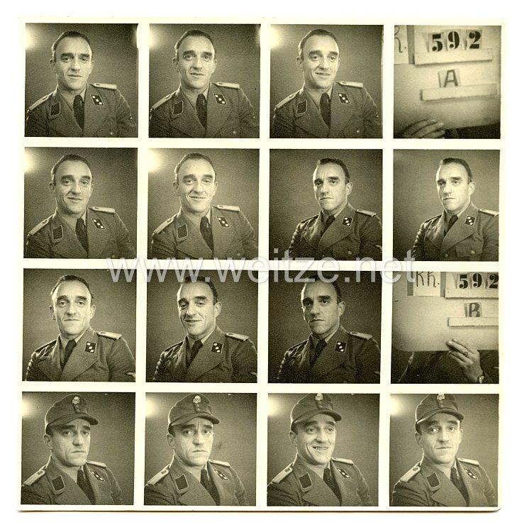 Waffen-SS Passfotos, SS-Untersturmführer im Sicherheitsdienst (SD)