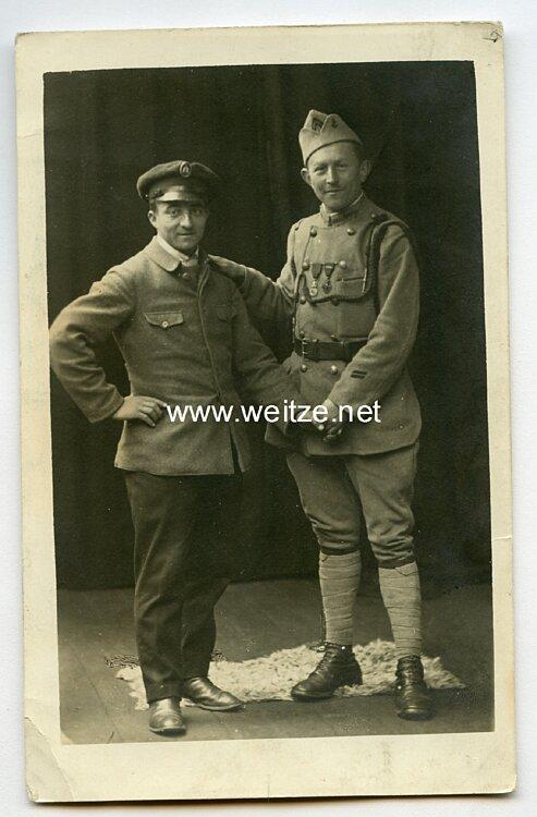 1. Weltkrieg Foto, Französischer Soldat mit Verliehenen Orden