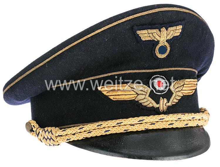 III. Reich Deutsche Reichsbahn dunkelblaue Schirmmütze für einen Reichsbahndirektor
