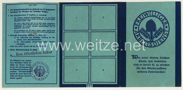 Freiwilliger Arbeitsdienst Gau 17 ( Niedersachsen-Mitte ) - Arbeitsdienstpaß