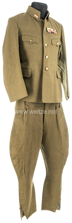 Japan World War 2 Imperial Japanese Army Tunic and Pants for a Mojor General in Occupied China