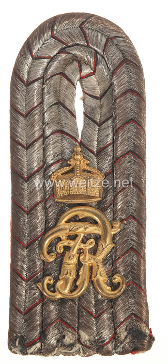 Württemberg Einzel Schulterstück für einen Leutnant im Infanterie Regiment Nr. 125