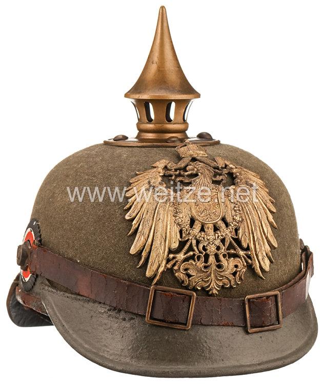 Deutsches Reich Pickelhaube Modell 1900 für Mannschaften des Ostasiatischen Expeditionskorps