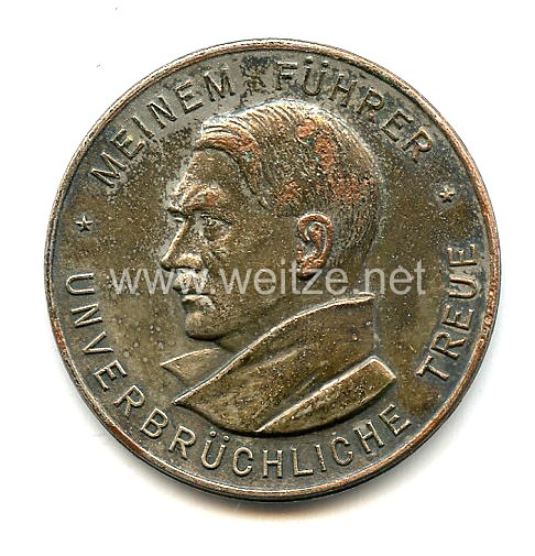 """III. Reich - Erinnerungsmedaille """" Zur Erinnerung an die Vereidigung der Pol. Leiter des Gaues Westfalen-Süd am 25.2.1934 """""""