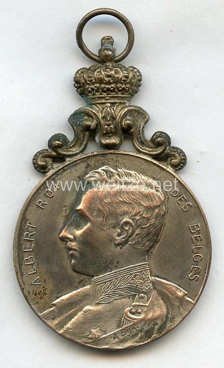 """Belgien Preis-Medaille """"Concours de Chant Individuel ... 2. Prix ... Avril 1914"""""""