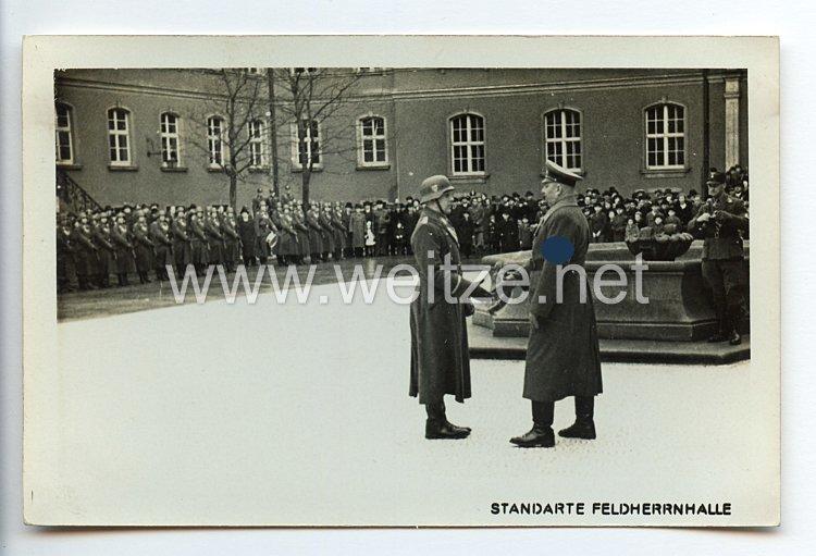 "SA - Propaganda-Postkarte - "" SA-Standarte Feldherrnhalle - Begrüßung """