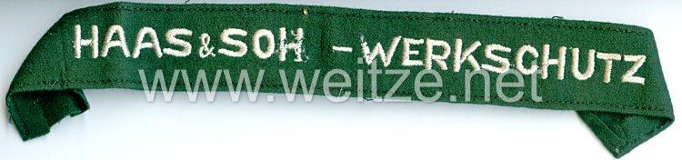 III. Reich Werkschutz Ärmelband der Firma