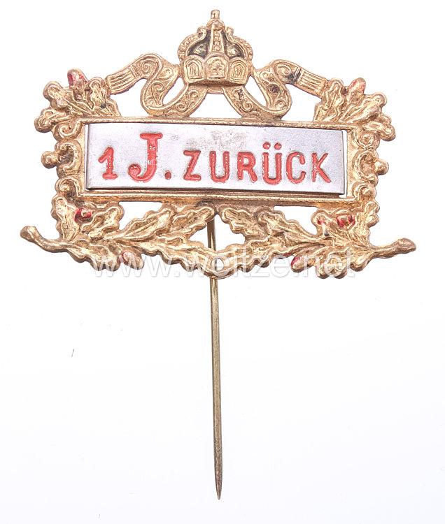 """Preußen Abzeichen zur Erinnerung an die Musterung - 1. J. zurück."""""""