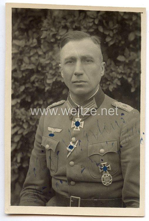 Heer - Originalunterschrift von Ritterkreuzträger Major Otto Martens