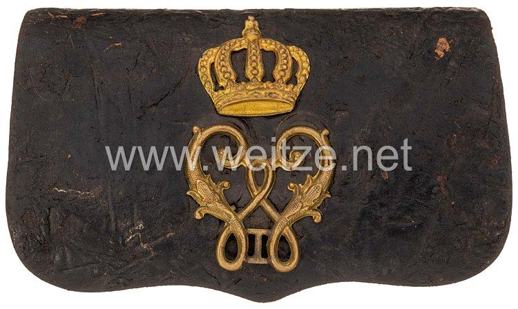 Württemberg - Kartuschkasten für Offiziereim Ulanen-Regiment König Wilhelm I. (2.Württ.) Nr. 20