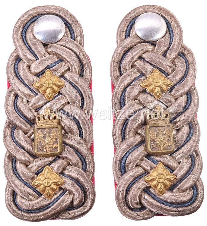 Preußen Paar Schulterstücke für einen Beamten der Militär-Intendantur im Range des Militär-Intendanten als Rat II. Klasse