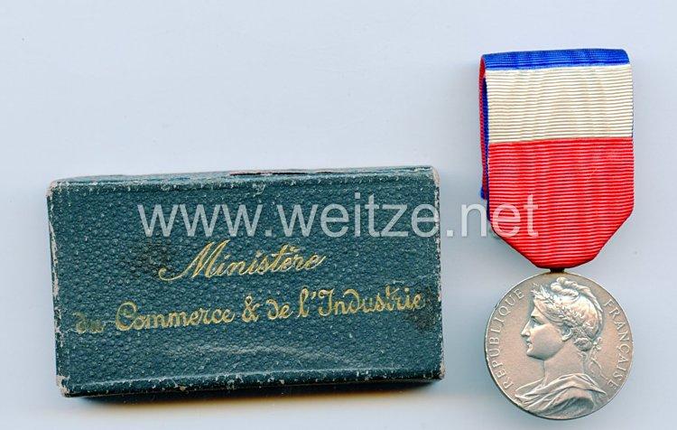 """Frankreich """"Médaille Ministère du commerce et de l'industrie 1927"""" in Schachtel"""