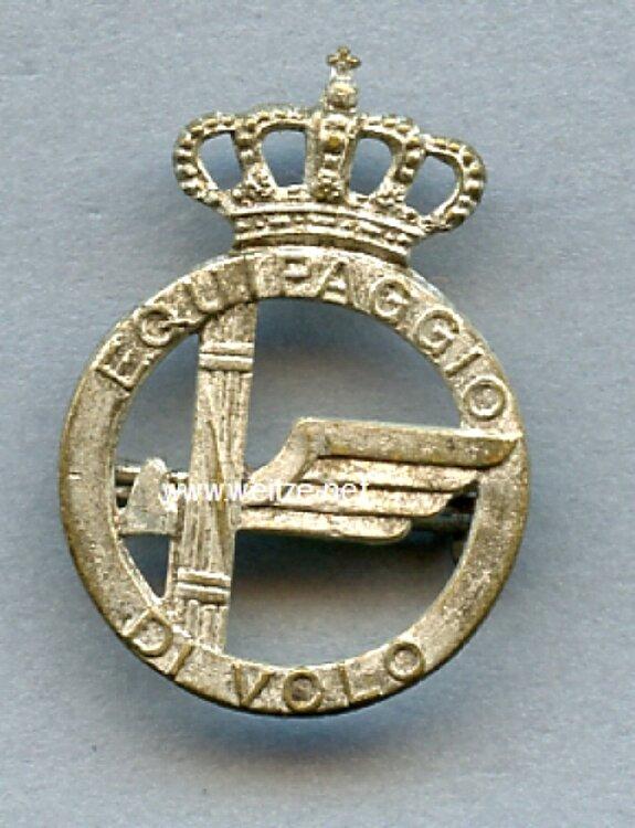 Italien 2. Weltkrieg Abzeichen für Fliegendes Personal