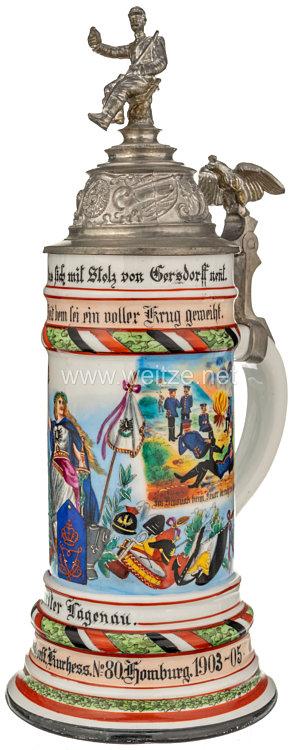"""Königreich Preußen - Reservistenkrug für den Gefreiten """"Hagenau"""" im Füsilier-Regiment von Gersdorff (Kurhessisches) Nr. 80"""