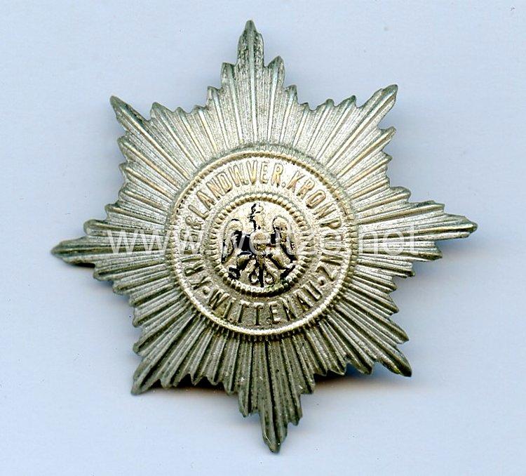 """Preußen großes Mitgliedsabzeichen """"Kiegerlandwehrverein Kronprinz Wittenau"""""""