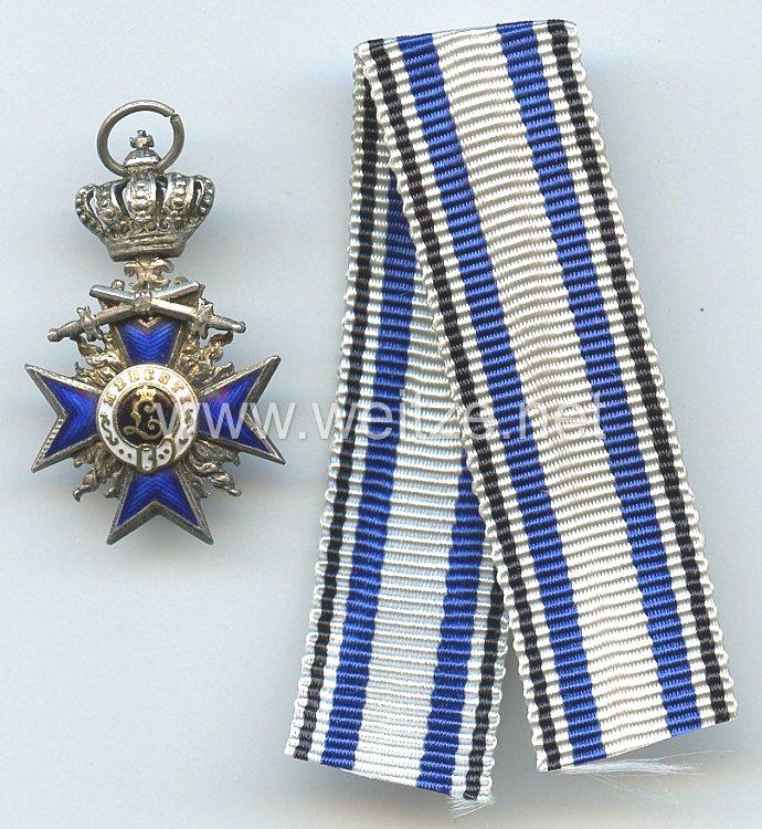 Bayern - Militär-Verdienstorden 4. Klasse mit Schwertern und Krone - Miniatur